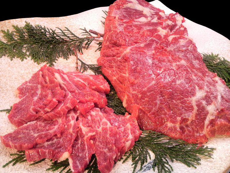 通販・お取り寄せ 特選霜降り馬刺し 肉のみやべ